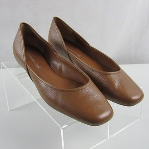 Coldwater Creek ballet flats Tan leather Size 8.5M